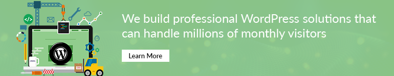 We build professional WordPress solutions that can handle millions of monthly visitors